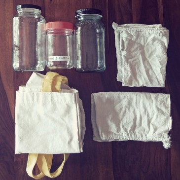 Zero waste grocery shopping supplies