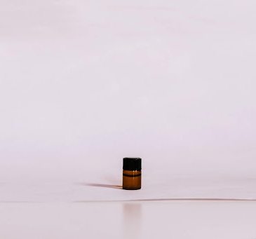 Bottle of essential oil
